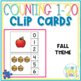 Counting 1-20 Clip Cards Fall - Special Education