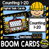 Counting 1-20: Construction Theme BOOM Cards