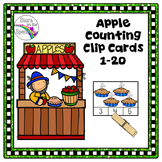 Johnny Appleseed Activities (Apple Counting Clip Cards)