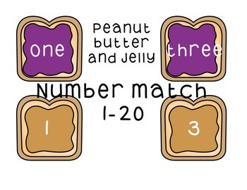 Counting 1-20, Match numbers with words, Primary Math Centers