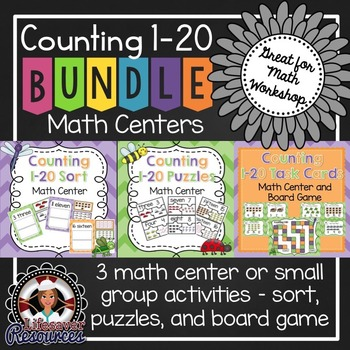 Counting 1-20 Math Centers