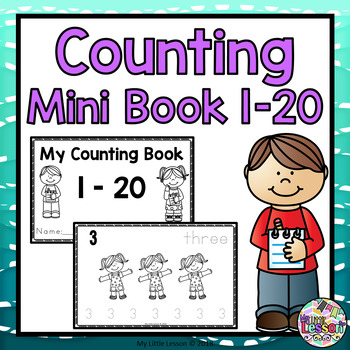 Counting 1-20 Mini Book: Numbers 1-20, Worksheets