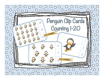 Counting 1-20 - Penguin Clip Cards