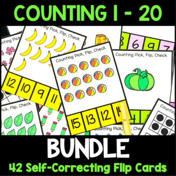 Counting 1-20 Clip Cards Bundle: Numbers 1-20 Ten Frames a