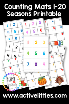 Counting 1-20 Placemats Printable - Active Littles