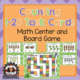 Counting 1-20 Task Cards/Scoot and Board Game - Math Center