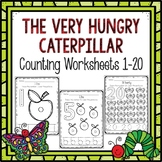 Preschool Worksheets Counting 1-20 Worksheets (Very Hungry Caterpillar)