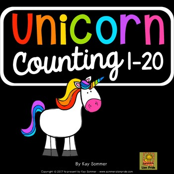 Counting 1-20 {unicorn themed}