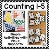 Counting 1-5 Activities with Visual Supports