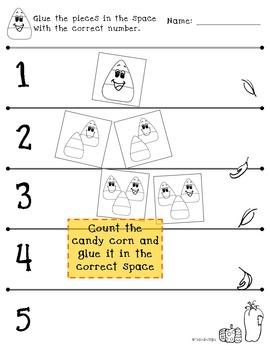 Counting 1-5 - Fall Themed PreK Worksheet