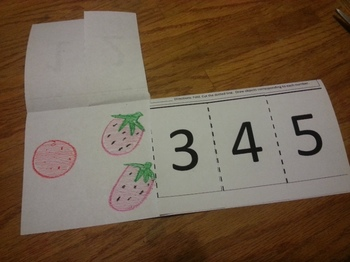 Counting 1-5 Foldable Activity Math Cscope/Common Core