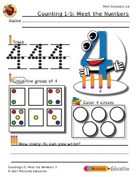 Counting 1-5: Meet the Numbers Activity Set