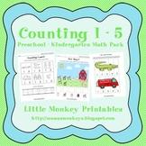 Counting 1 - 5 Preschool Math Pack