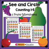 Counting 1-5: See and Circle Practice Set
