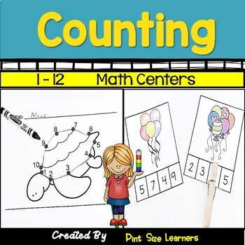 Counting 1 to 12 Center Activities and Worksheets