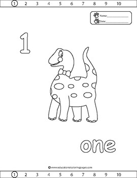 Counting 1 To 20 Coloring Pages