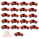 Counting 1 to 20: Numbered Cars Clip Art and Graphics