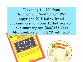 Counting 1 to 20 Song MP4 from Audio Memory Addition Songs CD by Kathy Troxel