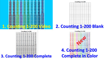 Counting to 200 on the 200's Chart (Video) + Activity Sheets Bundle