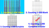 Counting to 200 on the 200's Chart (Video) + Activity Shee