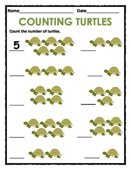 Counting 1 to 5  & 1 to 10 with Animals, Objects, Shapes and Food (Packet)