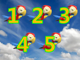 Counting 1 to 5 with Flying Parrots
