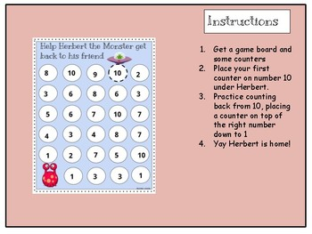 Counting 10-1 - Helping Herbert the monster back to his friend