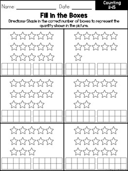 Counting 11-15 Workbook