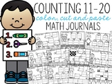 Counting 11-20 Color, Cut, and Paste Math Journal for Spec