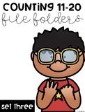 Counting 11-20 File Folders: Set Three