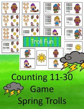 Counting 11-30 - Troll Fun Game  (Spring)