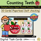 Counting 11 to 20 Apples Teeth Fall Autumn BOOM Cards™ Task Cards