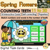 Counting 11 to 20 Flower Teeth Spring BOOM Cards™ Distance