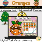 Counting 11 to 20 Oranges Teeth Fruit Tens Frame BOOM Card