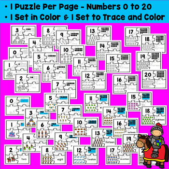 Number Sense 0-20: Fairy Tale Number Puzzles