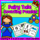 Fairy Tale Puzzles: Number Tracing - Fine Motor Skills - Counting Numbers