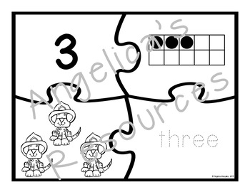 Number Sense 0-20 : Firefighter Number Puzzles