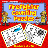 Fire Safety Activities : Number Tracing - Fine Motor Skills - Counting Numbers