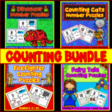 Number Sense BUNDLE: Counting Numbers -Puzzles - Fairy Tale, Firefighter, & Cats