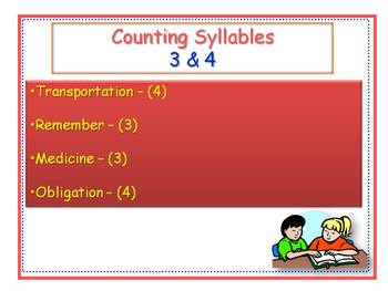 Counting 3 & 4 Syllables