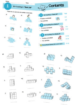 Christmas Counting 3D Geometry / Counting Cubes / 3D Shapes Counting for kids
