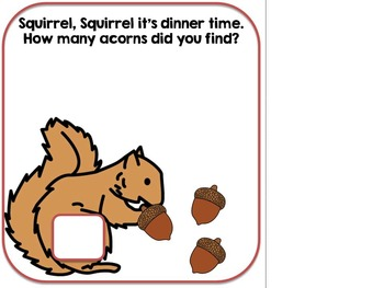 Counting Acorns-An Adapted Fall Counting Book {Autism, SPED, Early Childhood}