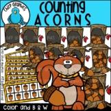 Counting Acorns Clip Art Set