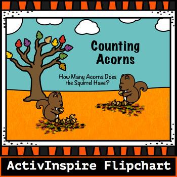 Counting Acorns to 10 -Activinspire Flipchart
