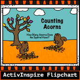 Counting Acorns to 10 -Activinspire Flipchart