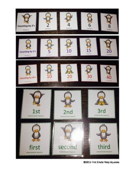Skip Counting & Ordinal Number Match Activities