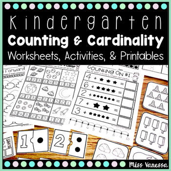 Counting and Cardinality Worksheets for Numbers 0-20!