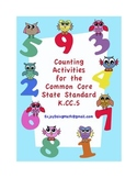 Counting Activities for the Common Core Math Standard K.CC.5