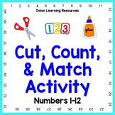 Cut Count Match Activity