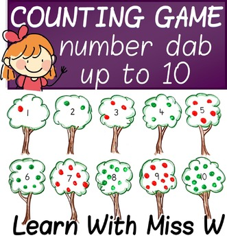 Counting to 10 game - draw the right number